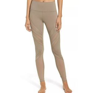 Alo Yoga High Waisted Epic Mesh Legging Gravel